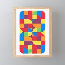 geometric abstract art print, bahaus design print, maximalism art, artist on society6, art on paper, affordable art