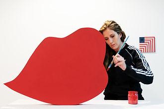 jessica mortiz, colorfield artist, artist in her studio, kiryat hamelacha, tel aviv art, israeli painter, top 100 women artist to watch 2021
