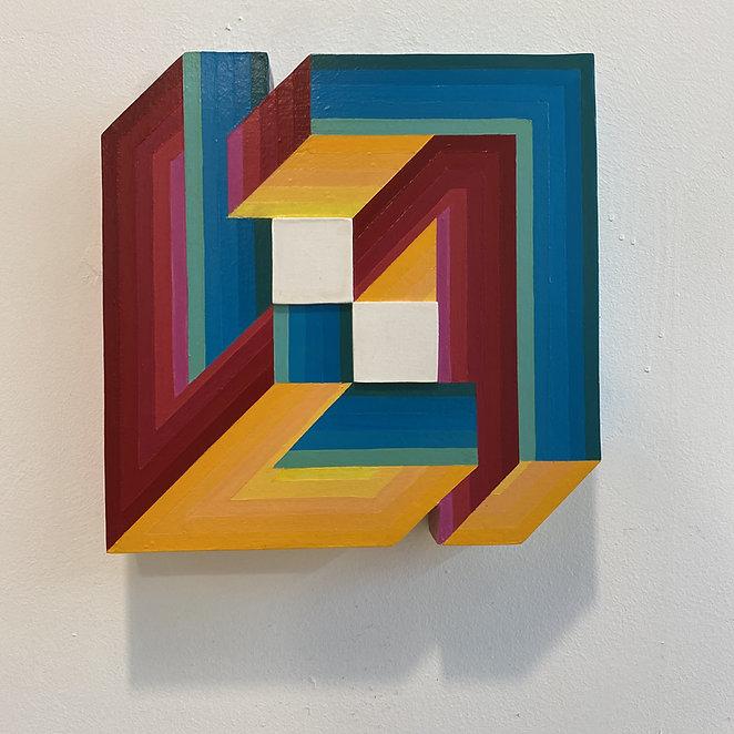 wall sculpture, israeli artist, primary colors spectrum, maximalism art, hard edge painting, contemporary israeli art