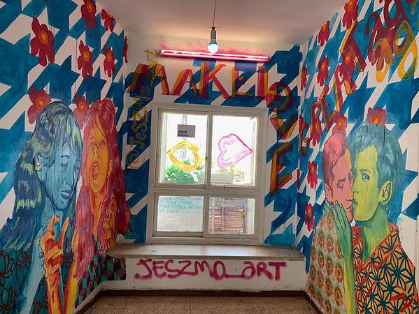 make love great again,jessica mortz, installation art, installtion, rgb, mural painting, wheatpaste, street art, israeli art, pop up museum tlv, bad ass art, art for sale,ציור,אמנות למכירה,ציורים