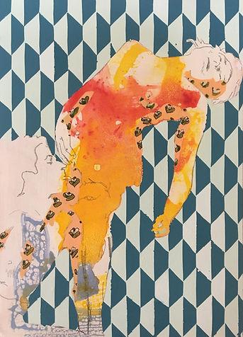 contemporary art, painting, jessica moritz, erotic art, israel, tel aviv