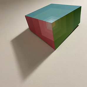 color spectrum, minimal home decor, 3D art, Moritz art, Sacred geometry art, albers, art during covid
