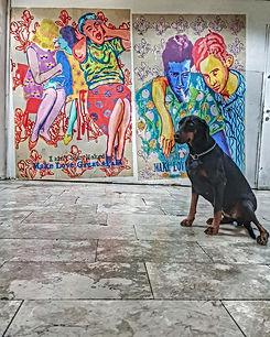 mlga, tahanat mercazit art, tel aviv bus station, public art israel, colorful couples, art saves us, urban art israel