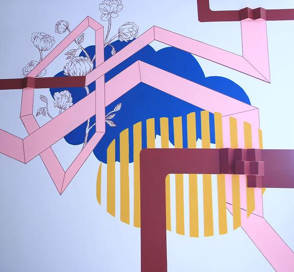 mural commission, commission art, mural tel aviv, corporate art, israel painting, home interior tel aviv, colorfield painting