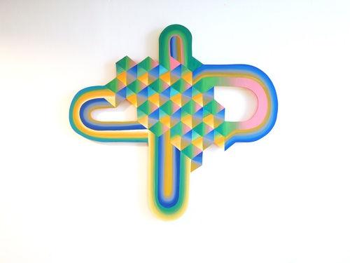 Hope tessellation choreography,img, jessica moritz, op art, hard edge artist, colorfield artist, israeli artist to watch, colorful art, interior inspiration summer 2021