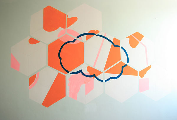 abstract painting, mural, jessica moritz, israel, tel aviv, pattern, surface design, light design, mural, mural painting, art,installation, ציור,ציור על קיר,אמנות,ציור בהזמנה