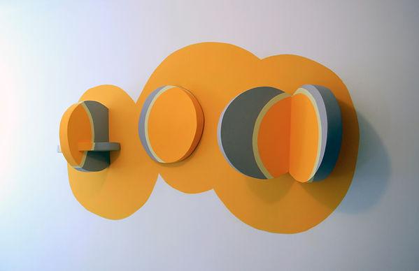 ,pajessica moritz, israeli artist,geometric abstraction, hard edge artist,pantone 2021, illuminating yellow, ultimate grey, pantone of the year 2021, minimal sculpture, minimal artist, geometric painting