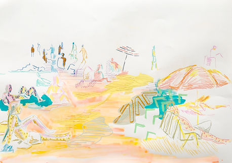 israeli drawing, jaffa beach, israeli culture, img, illustration week israel, tel aviv art gallery