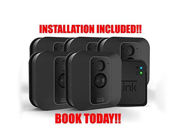 Blink XT2  5 CAM Outdoor/Indoor Smart Security Camera with cloud storage incl