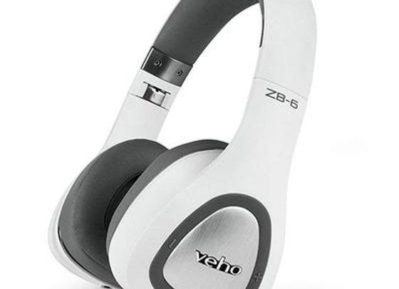 VEHO ZB-6 ON-EAR WIRELESS BLUETOOTH HEADPHONES - WHITE