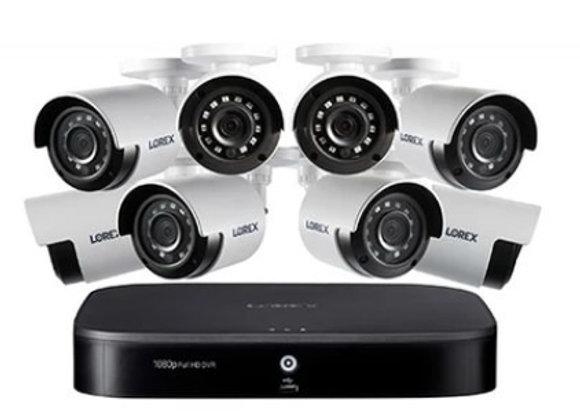 1080P 8-CH 1TB HD DVR SEC SYS 8 X OD BULLET SEC CAM
