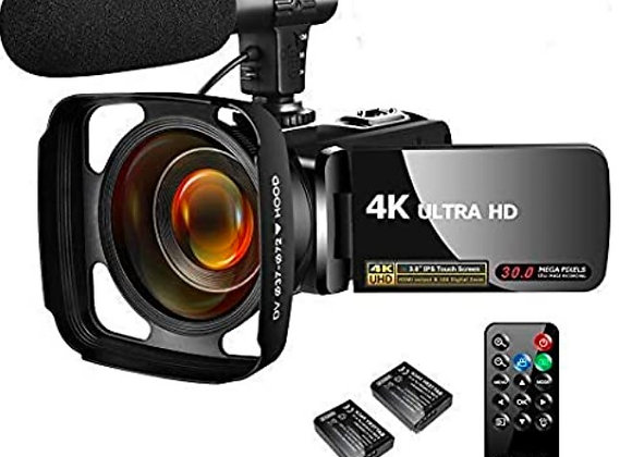Video Camera Camcorder 4K 30MP Digital Camcorder Camera with Microphone Ultra HD