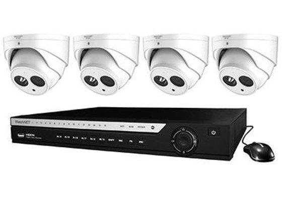 WATCHNET 1080P 4-CHANNEL 1TB PENTA-BRID DVR SECURITY SYSTEM WITH 4 X 2.1MP IR DO