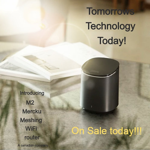 MERCKU M2 QUEEN AC1200 WI-FI MESH ROUTER UP TO 3,000 SQ FT Product #NEM2-QUEENT