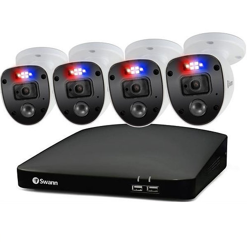 SWANN 1080P HD 8 CHANNEL 1TB HARD DRIVE DVR SECURITY SYSTEM WITH 4 X 1080P