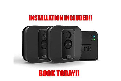 Blink XT2 2 Cam Outdoor/Indoor Smart Security Camera with cloud storage incl