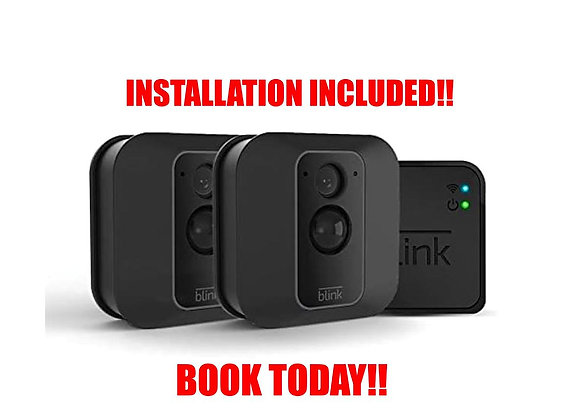 Blink XT2 2 Cam Outdoor/Indoor Smart Security Camera with cloud storage incl