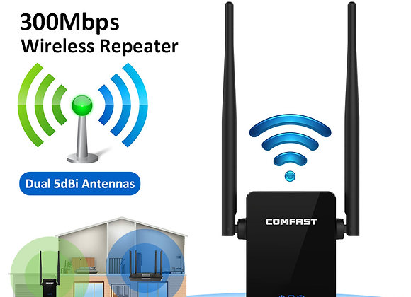 COMFAST Wireless Wifi Repeater 300Mbps  Wifi Extender Signal Amplifier