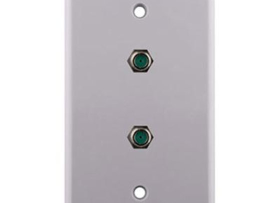 CONSTRUCT PRO SINGLE GANG 3-GHZ DUAL F-81 WALL PLATE - WHITE