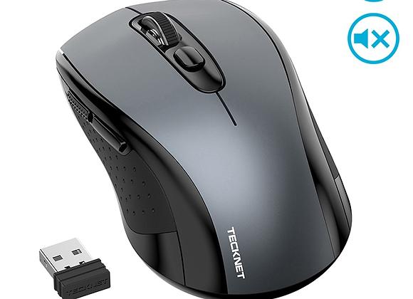 TeckNet Sound Ordinary Wireless Mouse Silent Mouse 2000DPI Computer Ergonomic