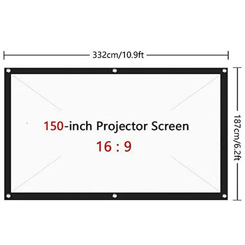 NXSI 150In Projector Screen Large,16:9 Wall Mounted Canvas HD Projection Screen