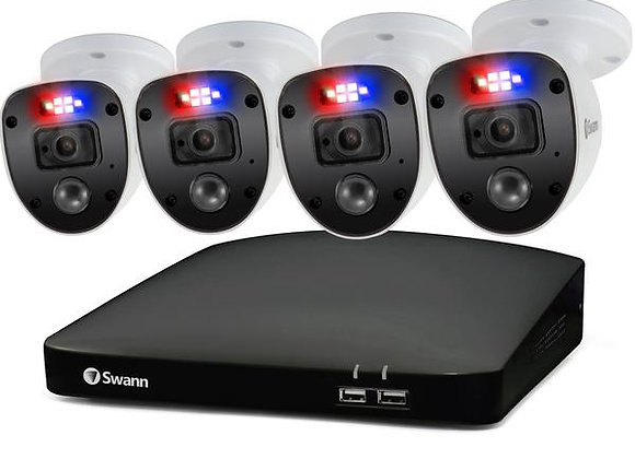 SWANN 1080P HD 8 CHANNEL 1TB HARD DRIVE DVR SECURITY SYSTEM WITH 4 X 1080P POLIC