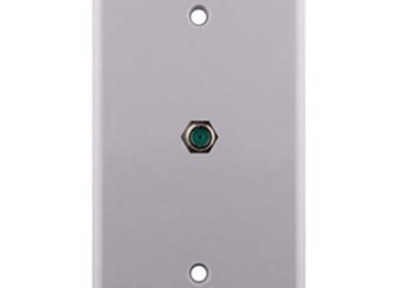 CONSTRUCT PRO SINGLE GANG 3-GHZ F-81 WALL PLATE - WHITE