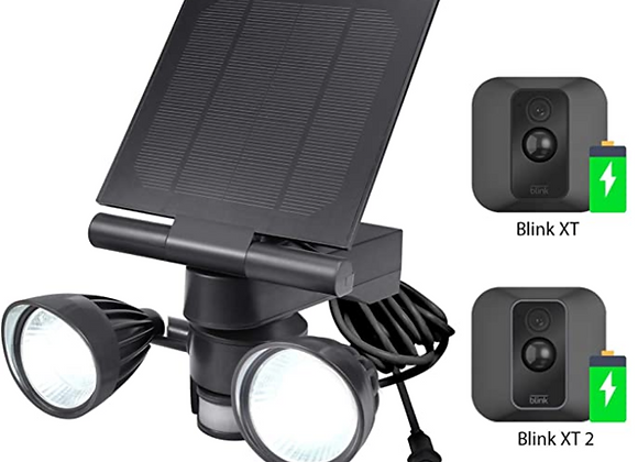 Blink Floodlight & Solar Panel Charger, Motion-Activated, Compatible with Blink