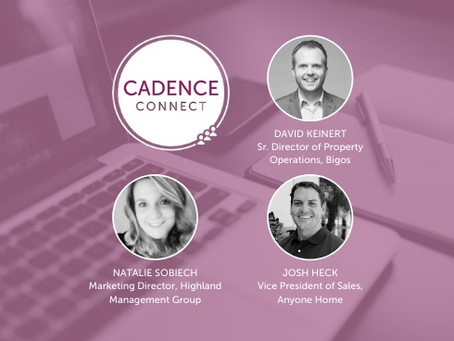 """5 Key Takeaways from the May Cadence Connect Event - """"Disrupting the Standard Leasing Process"""""""