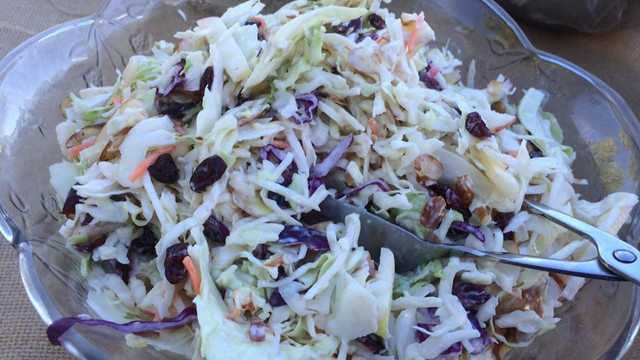 Apple and Almond Coleslaw