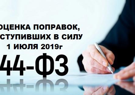 Оценка поправок, вступивших в силу с 1 июля 2019 года.