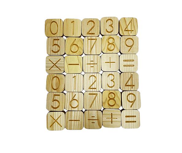 Rakam Küpler (2 set 0-9 ve -×+÷=)