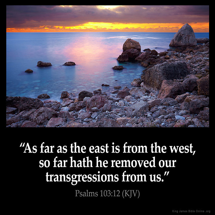 East from West, Psalm 103:12