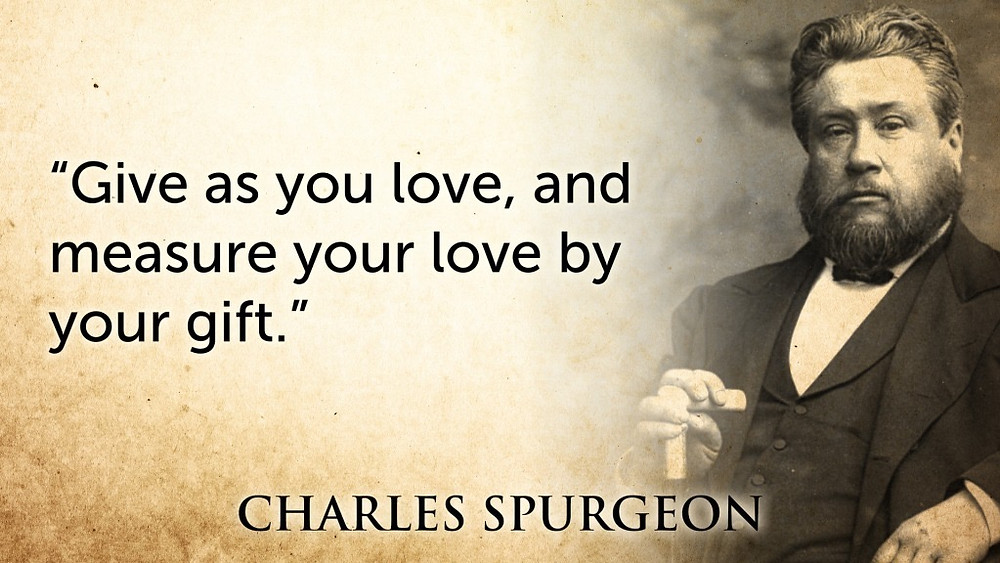 Charles Spurgeon on Giving