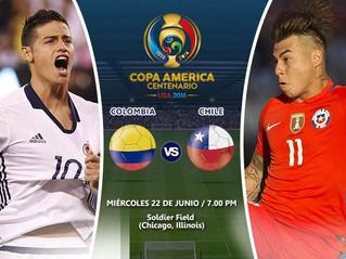 Colombia VS Chile por el Último Cupo a la Gran Final de la Copa Centenario.