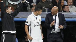 """Zidane: """"Valoro el día a día de James, estoy contento"""""""