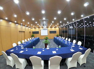 U Shape style setup at the Blanche Bay Conference Room