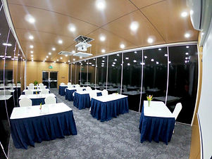 Classroom style setup at the Duke of York Conference Room