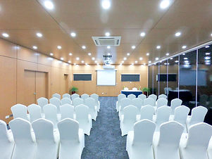 Theater style setup at the Blanche Bay Conference Room