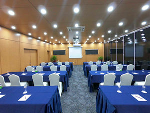 Classroom style setup at the Blanche Bay Conference Room