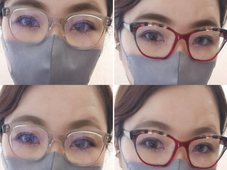 メガネフレームと眉毛の濃さ