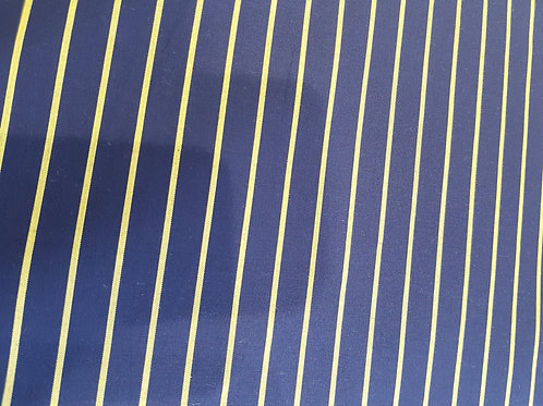 Camicia Blu con righe gialle tessuto popelyne
