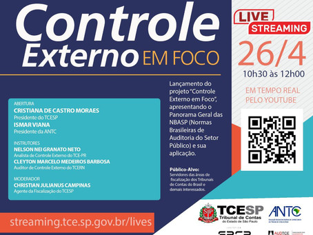 Controle Externo em Foco: AudTCE/SP e Escola Paulista de Contas Públicas lançam série de lives