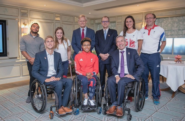 Nick with paralympic athletes