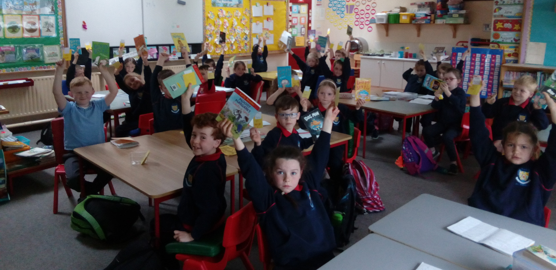 First class delighted with their books