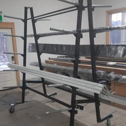 Custom Parts Rack for Siding Company