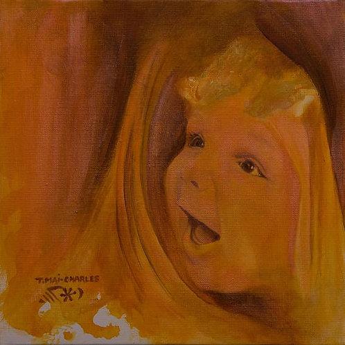 """""""Portrait d'enfant orange"""""""
