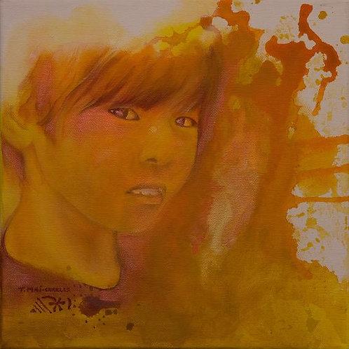 """""""Portrait d'enfant jaune"""""""