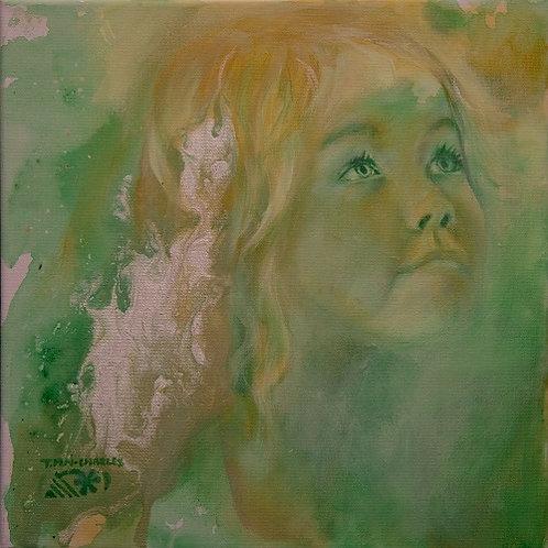 """""""Portrait d'enfant vert"""""""
