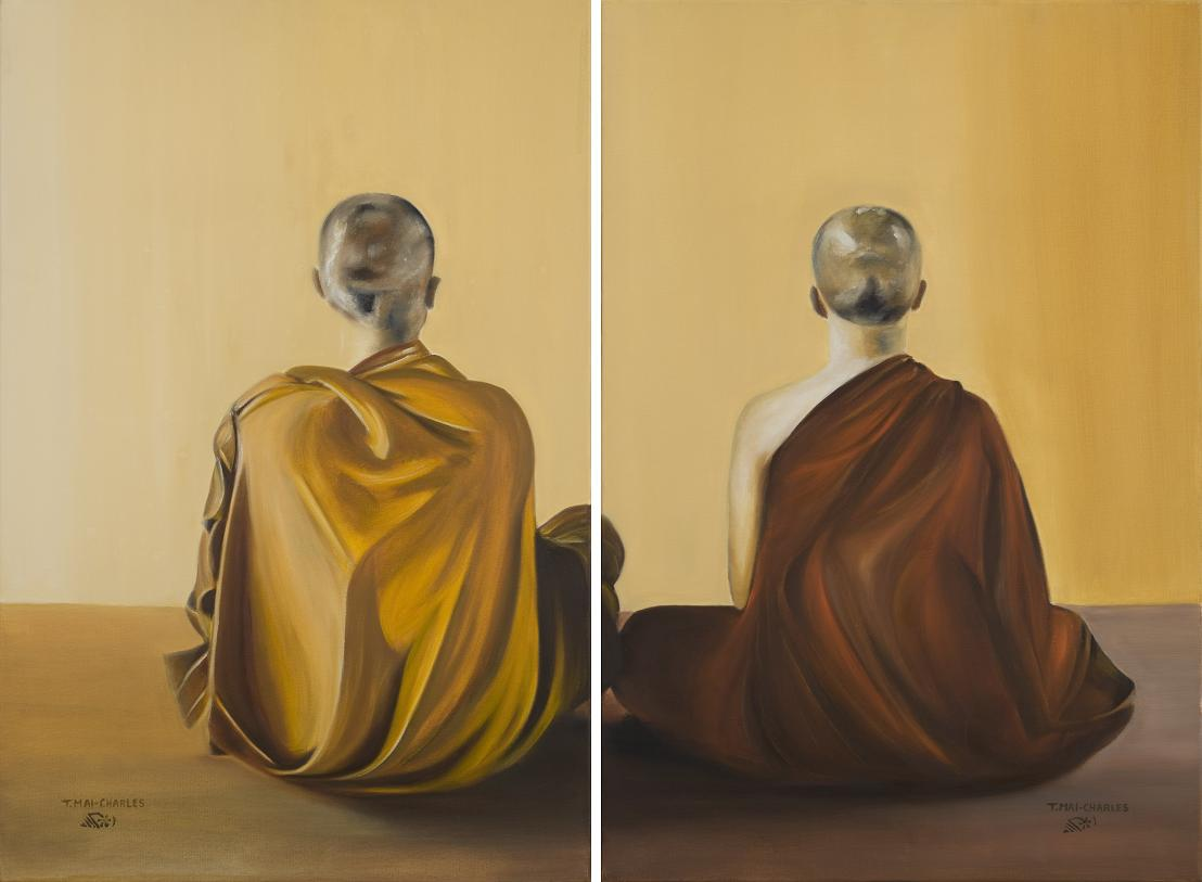 Meditation diptych